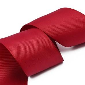 Лента Ideal репсовая в рубчик шир.50мм цв. 275 вишневый уп.27,42м