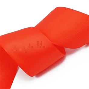 Лента Ideal репсовая в рубчик шир.50мм цв. 235 (057) класс.красный уп.27,42м