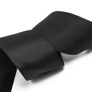Лента Ideal репсовая в рубчик шир.50мм цв. 030 (176) черный уп.27,42м
