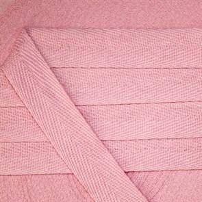 Тесьма киперная 20 мм хлопок 2,5г/см арт.УЛ.549.20 цв.св.розовый уп.50м