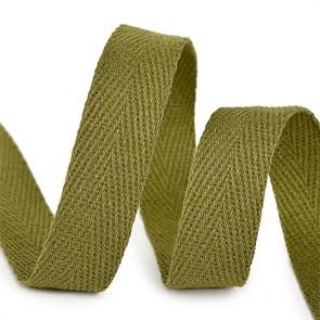 Тесьма киперная 15 мм хлопок 2,5г/см арт.TBY.CT15264 цв.F264 зеленый уп.50м