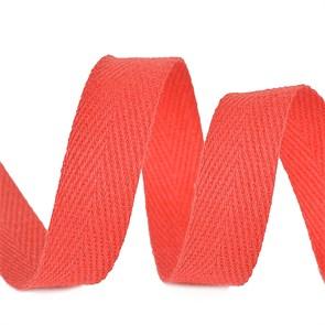 Тесьма киперная 15 мм хлопок 2,5г/см арт.TBY.CT15162 цв.F162 красный уп.50м
