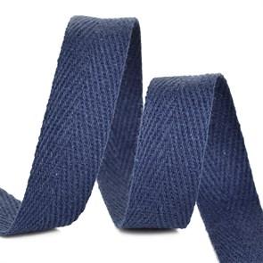 Тесьма киперная 15 мм хлопок 2,5г/см арт.TBY.CT15058 цв.S058 т.синий уп.50м
