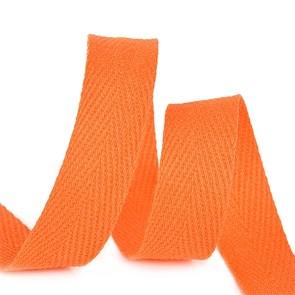 Тесьма киперная 10 мм хлопок 2,5г/см арт.TBY.CT10157 цв.F157 оранжевый уп.50м
