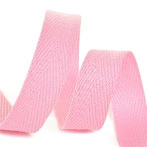 Тесьма киперная 10 мм хлопок 2,5г/см арт.TBY.CT10134 цв.F134 розовый уп.50м