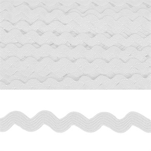 "Тесьма декоративная ""Вьюнчик"" арт.TBY.64312 шир.5мм цв.F101 белый уп.32,92м"