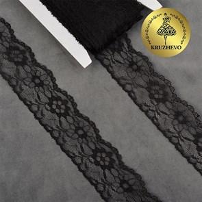 Кружево-трикотаж IDEAL арт.TBY 1664 шир.40мм цв.10 черный, уп.27,4м