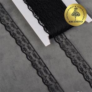 Кружево-трикотаж IDEAL арт.TBY 1663 шир.20мм цв.10 черный, уп.27,4м