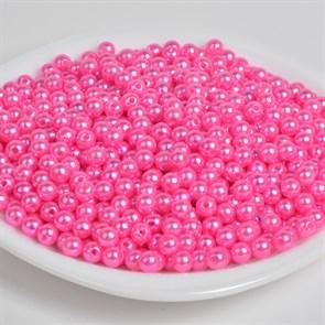 Бусины MAGIC 4 HOBBY круглые перламутр 8мм цв.096 яр.розовый уп.50г (213шт)