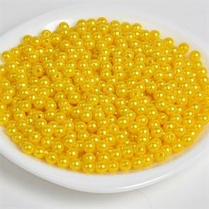 Бусины MAGIC 4 HOBBY круглые перламутр 10мм цв.A08 лимон уп.50г (96шт)