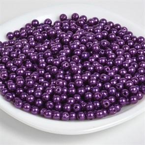 Бусины MAGIC 4 HOBBY круглые перламутр 10мм цв.133 фиолетовый уп.50г (96шт)