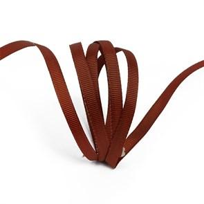 Лента Ideal репсовая в рубчик шир.6мм цв. 868 (143) холод.коричневый уп.27,42м