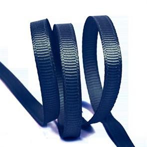 Лента Ideal репсовая в рубчик шир.6мм цв. 374 т.синий уп.27,42м