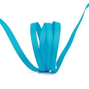 Лента Ideal репсовая в рубчик шир.6мм цв. 340 (165) ярк.голубой уп.27,42м