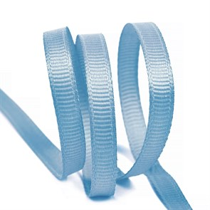 Лента Ideal репсовая в рубчик шир.6мм цв. 332 голубой уп.27,42м
