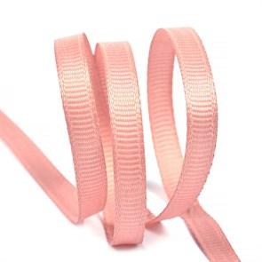 Лента Ideal репсовая в рубчик шир.6мм цв. 161 розовый уп.27,42м
