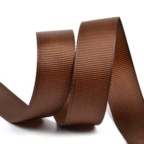 Лента Ideal репсовая в рубчик шир.20мм цв. 855 коричневый уп.27,42м
