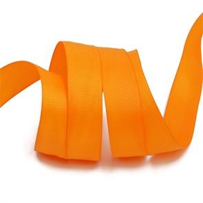 Лента Ideal репсовая в рубчик шир.20мм цв. 668 оранжевый уп.27,42м