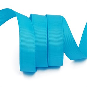 Лента Ideal репсовая в рубчик шир.20мм цв. 340 ярк.голубой уп.27,42м