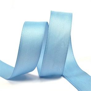 Лента Ideal репсовая в рубчик шир.20мм цв. 332 голубой уп.27,42м