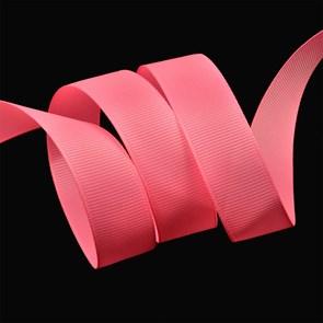 Лента Ideal репсовая в рубчик шир.20мм цв. 159 флуор.розовый уп.27,42м