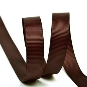Лента Ideal репсовая в рубчик шир.12мм цв. 855 коричневый уп.27,42м
