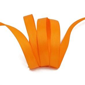 Лента Ideal репсовая в рубчик шир.12мм цв. 668 (053) оранжевый уп.27,42м