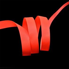 Лента Ideal репсовая в рубчик шир.12мм цв. 600 (051) флуор.оранжевый уп.27,42м