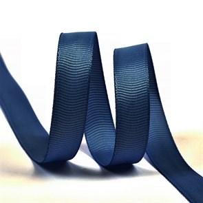 Лента Ideal репсовая в рубчик шир.12мм цв. 374 т.синий уп.27,42м