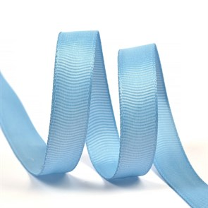 Лента Ideal репсовая в рубчик шир.12мм цв. 332 голубой уп.27,42м