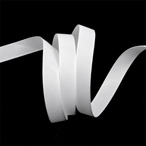 Лента Ideal репсовая в рубчик шир.12мм цв. 029 (001) белый уп.27,42м