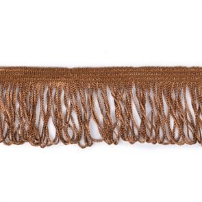 Бахрома арт. 0390-1070 цв.6470 шир. 60мм цв.коричневый уп.10м
