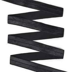 Резинка TBY бельевая (окантовочная блестящая) шир.20мм цв.F322 черный уп.50 м