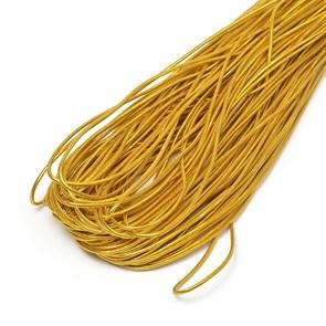Резинка TBY шляпная (шнур круглый) цв.золото 1,5мм рул.100м