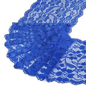 Кружево-стрейч арт.HKS-RY08 шир.180мм цв.синий упак.5м
