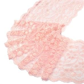 Кружево-стрейч арт.HKS-RY08 шир.180мм цв.св.розовый упак.5м