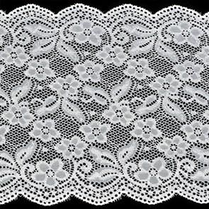 Кружево-стрейч арт.HKS-D717 шир.200мм цв.белый упак.5м