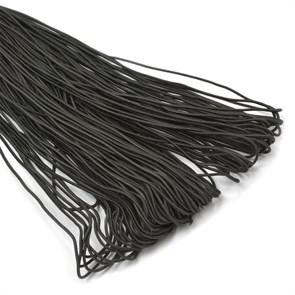 Резинка TBY шляпная (шнур круглый) цв.F322 черный 1,5мм рул.100м