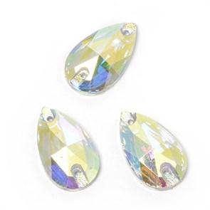 Стразы пришивные акриловые (Resin) Tesoro Crystal арт.TS.ED2.3.10 цв.AB Crystal 13х22 мм уп.10 шт