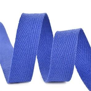 Тесьма киперная 20 мм хлопок 2,5 г/см арт.TBY.CT20223 цв.F223 синий уп.50м