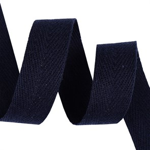 Тесьма киперная 20 мм хлопок 2,5 г/см арт.TBY.CT20058S цв.S058 т.синий уп.50м