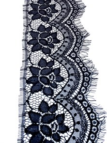 """Кружево """"реснички"""" арт.KRK-68020-1 шир.150мм цв.черный уп.3м"""