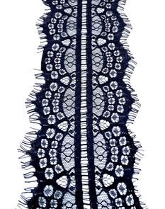 """Кружево """"реснички"""" арт.KRK-60002 шир.105мм цв.черный уп.3м"""