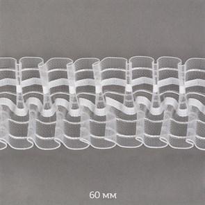 Лента шторная 60мм Caron сборка: буфы арт.605-0 цв. прозрачный рул. 50м