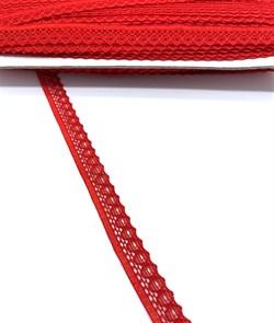 Кружево-трикотаж арт.TBY-K577 шир.10мм цв.7 (145) цв.красный уп.45,7м