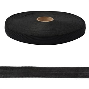 Тесьма вязаная окантовочная, 22мм, арт.4С-516/22 ,цв.147 черный