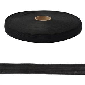 Тесьма вязаная окантовочная  18мм  арт.3С-235/18  цв.147 черный   уп.50м