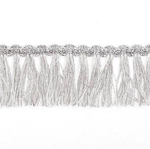 Бахрома  арт.11056 шир.45мм цв.серебро  уп.18,28м