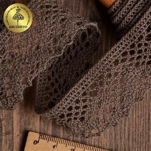 Тесьма вязаная KRUZHEVO 30мм TBY-5234 цв.21 какао уп.10м