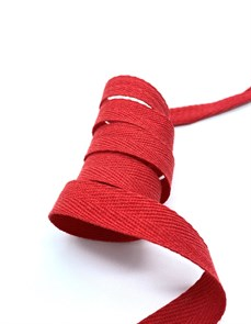 Тесьма киперная 10 мм хлопок 2,5г/см арт.TBY.FT10162 цв.F162 красный уп.10м